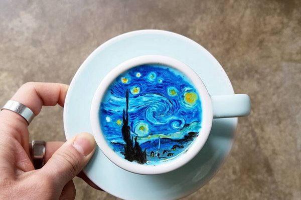 梵高咖啡拉花,讓生活加一道藝術